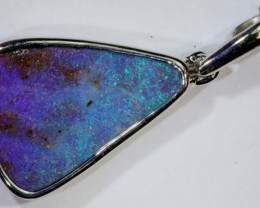 12.10-CTS BOULDER OPAL STERLING SILVER PENDANT OF-2470