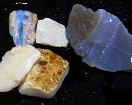 25cts Coober Pedy White Opal Rough Parcel DT-6557