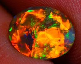 1.80 CT RED SPLASH !!!AAA Quality Welo Faceted Ethiopian Opal - AE538