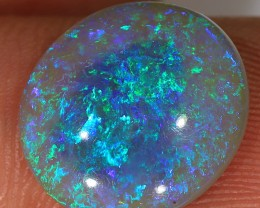 4.3ct 14x12.5mm Solid Lightning Ridge Dark Crystal Opal [LO-1209]
