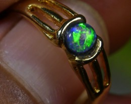 13.35 CT Amazing Broad Stripe Indonesian Crystal Opal Ring