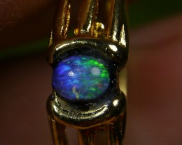 16.65 CT UNTREATED Beautiful Indonesian Crystal Opal Ring