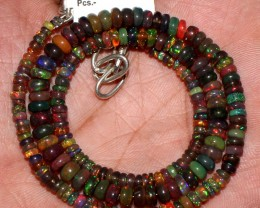 50 Crts Natural Ethiopian Welo Fire Smoked Opal Beads Necklace 23