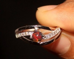 Natural Ethiopian Welo Fire Smoked Opal 925 Sterling Silver Ring 36