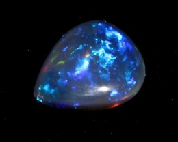 2.50 Crts Natural Ethiopian Welo Fire Smoked Black Opal Cabochon 999