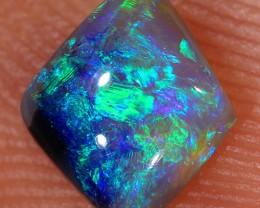0.65ct 7x6mm Solid Lightning Ridge Dark Crystal Opal [LO-1231]