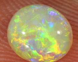 0.9ct 7x6.5mm Solid Lightning Ridge Crystal Opal [LO-1234]