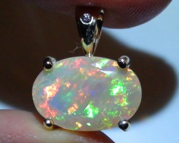 9.70 ct 10k Solid Gold Pendant With Top Gem Color Welo Facet Opal