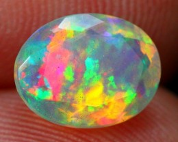 Lot 5 ~ 1.30Ct Broad Patchwork Pattern Ethiopian Welo Faceted Opal