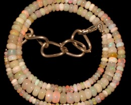47 Crts Natural Ethiopian Welo Fire Opal Beads Necklace 25