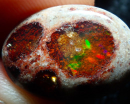 $1 NR Auction 8ct Mexican Matrix Cantera Multicoloured Fire Opal