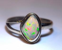7sz  Ethiopian Welo Opal Sterling Silver Ring
