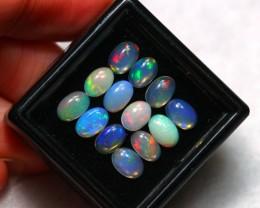 3.91cts 6x4mm Ethiopian Welo Opal Lot
