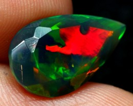 2.30cts Natural Ethiopian Welo Smoked Faceted Opal