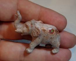 MEXICAN MATRIX OPAL ELEPHANT BRIGHT CARVED QUALITY CARVING