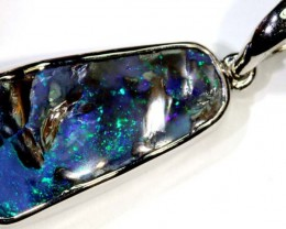 33.10-CTS BOULDER OPAL STERLING SILVER PENDANT OF-2479