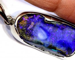 28-CTS BOULDER OPAL STERLING SILVER PENDANT OF-2481