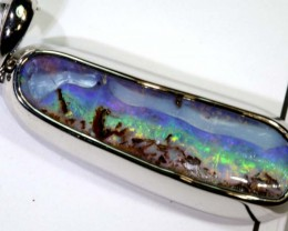 46.50-CTS BOULDER OPAL STERLING SILVER PENDANT OF-2483