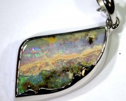 29.85-CTS BOULDER OPAL STERLING SILVER PENDANT OF-2489