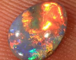 0.5ct 7.5x5.5mm Solid Lightning Ridge Dark Opal [LO-1262]