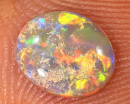 0.4ct 7.3x6mm Solid Lightning Ridge Crystal Opal [LO-1264]