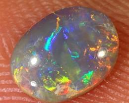 0.4ct 7x5mm Solid Lightning Ridge Dark Opal [LO-1268]