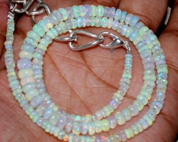 44 Crts Natural Ethiopian Welo Fire Opal Beads Necklace 26