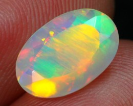 Lot 6 ~ 1.61Ct Multi Color Chaff Fire Welo Faceted Opal