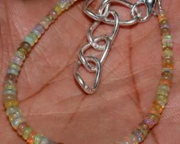17 Crts Natural Ethiopian Welo Fire Opal Beads Bracelet 55