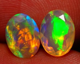 8X6 MM AAA QUALITY ETHIOPIAN CRYSTAL FACETED OPAL PAIR -AE793