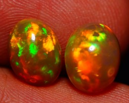 9X7 MM AAA QUALITY ETHIOPIAN CRYSTAL OPAL PAIR -AE798