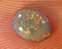 0.55ct 6.5x5mm Solid Lightning Ridge Dark Opal [LO-1272]