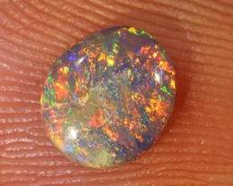 0.4ct 6x5.5mm Solid Lightning Ridge Dark Opal [LO-1273]
