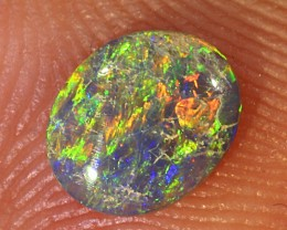 0.34ct 6x5mm Solid Lightning Ridge Dark Opal [LO-1276]