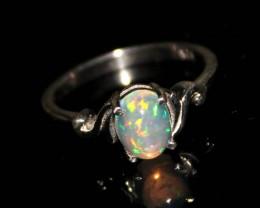 Ethiopian Welo Fire Opal 925 Silver Ring Jewlery Size (8 US) 74