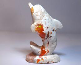 Mexican Cantera Opal DOLPHIN
