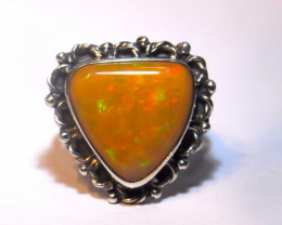 7sz SOLID WELO OPAL HIGH QUALITY .925 STERLING FABULOUS RING