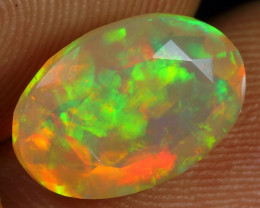 Faceted 2.70cts Sparkle Iridescence Fire Natural Ethiopian Welo Opal