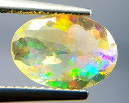 "1.76 ct  ""Play  Of Fire "" Oval Cut Natural Ethiopian Fire Opal"