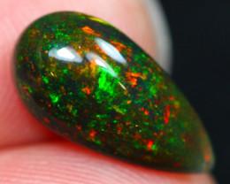 Lot 8 ~ 2.69Ct Green Flash Color Ethiopian Welo Black Smoked Opal