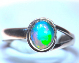 8SZ  BRILLIANT WELO OPAL STERLING RING