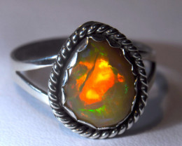 7.5SZ BRILLIANT WELO OPAL STERLING RING