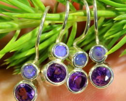 14.75CTS PARCEL DEAL OF EARRINGS CRYSTAL OPAL WITH AMETHYST [SOJ6537]6