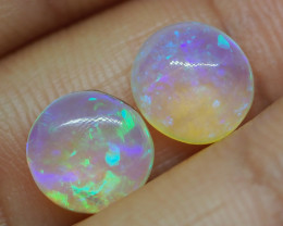 2.80CT VIEW PIPE WOOD REPLACEMENT PAIR BOULDER OPAL RE380