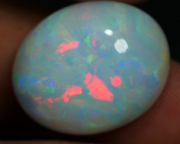 15.50 CRT BEAUTY MILKY WHITE BROADFLASH PATTERN FIRE PLAY COLOR WELO OPAL-