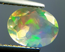 "1.21ct "" Play Of Colour ""  Oval Cut Natural Ethiopian Fire Opal"