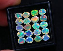4.63Ct Multi Color 5x4 Ethiopian Welo Faceted Opal Lot C28/5