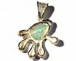 Pendant Silver 925 with Wello Opal Tot. Cts. 29.0    CV28