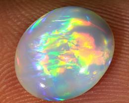 Rainbow flash 1.45ct 10.5x8.5mm Solid Lightning Ridge Dark Opal [LO-1299]