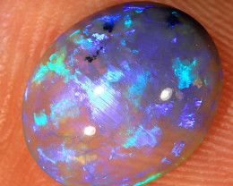 2ct 11x9mm Solid Lightning Ridge Dark Crystal Opal [LO-1313]